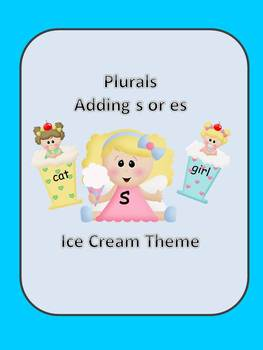 Plurals-Adding s or es with an Ice Cream Theme