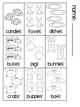Plurals Sorting Book (-s -es -ies Practice)