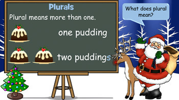 Plurals - Christmas Themed PowerPoint Lesson