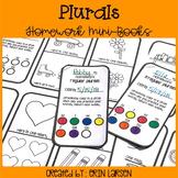 Plurals Homework Minibooks