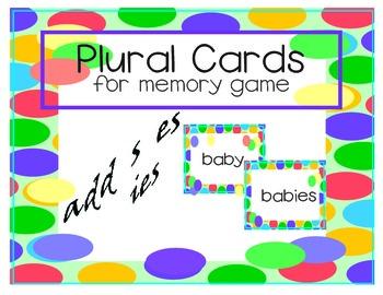 Plurals Memory Game Cards