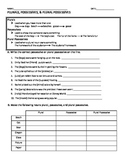 Plurals, Possessives, and Plural Possessives Worksheet