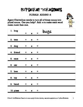 Plurals Practice Pack