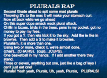 Plurals Rap Lyrics and Video