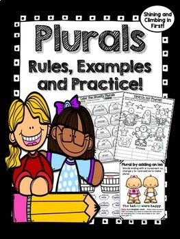 Plurals - Rules, Examples and Practice - No Prep!