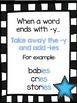 Plurals Rules Posters (UPDATED and EDITABLE)