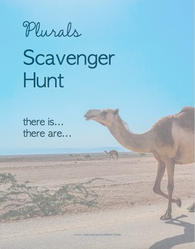 ESL There is/There are Plurals Scavenger Hunt