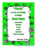 """Plurals"" Scoot Game (s,es,ies, ves, irregular, no change)"