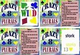 Plurals Word Card Game Crazy Eights  PDF Version