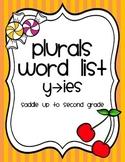 Plurals Word List Freebie