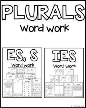 Plurals Word Work