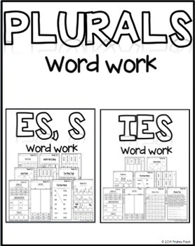 Plurals Word Work