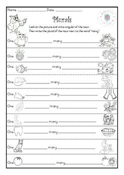 Plurals Worksheet