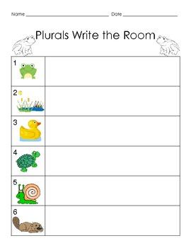 Plurals Write the Room - Common Core