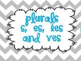 Plurals:  adding s, es, ies, and ves using word sorts, tas