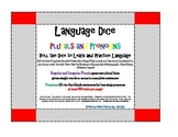 Plurals and Pronouns: Roll-a-Dice Language Game