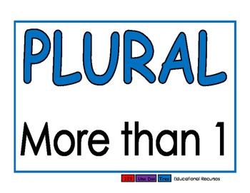 Plurals blue