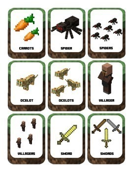 Plurals for Young Learners: with Minecraft (Cards and Sorting Game) Language