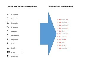 Plurals forms and the articles review