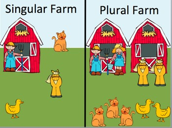 """Plurals on the Farm: Introduction to the Plural """"-s"""" ending"""