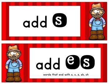 ELA Mini Lesson- Plurals - s and es