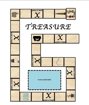Plurals -s vs. -es Treasure Hunt Board Game