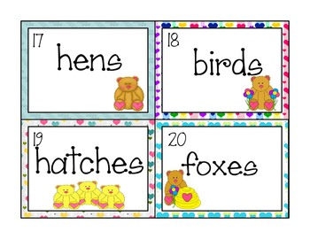 """Plurals with -s or -es Read the Room center """"Bunches of Bears"""""""