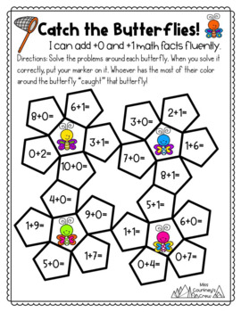 Plus +0 +1 GAMES Math Fact Fluency Activities for Centers