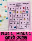 Plus 1 or Minus 1 Bingo: An Addition & Subtraction Fluency Game
