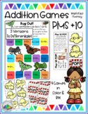 Plus +10 GAMES Math Fact Fluency: Activities for Centers