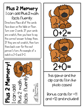 Plus +2 GAMES Math Fact Fluency: Activities for Centers or Small Groups