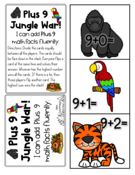 Plus +9 GAMES Math Fact Fluency 2 Activities for Centers