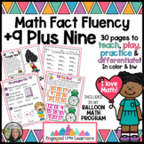 Plus 9 Nine Math Fact Fluency: Games, Activities, Clip Cards, Anchor Chart, MORE