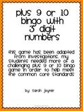 Plus 9 or 10 Bingo 3 Digits