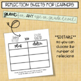 Plus & Delta Reflection Sheet