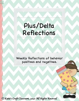 Plus/Delta Weekly Behavior Reflection