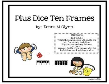 Plus Dice Ten Frames