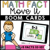 Plus Five Addition Math Facts Boom Cards™ -  Distance Learning