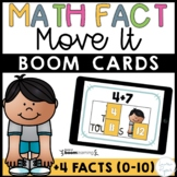 Plus Four Addition Math Facts Boom Cards™ -  Distance Learning