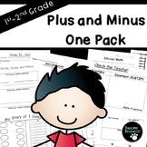 Plus/Minus One Pack-EDITABLE! (***FREEBIE***)
