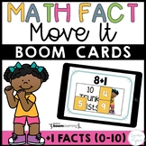 Plus One Addition Math Facts Boom Cards™ -  Distance Learning