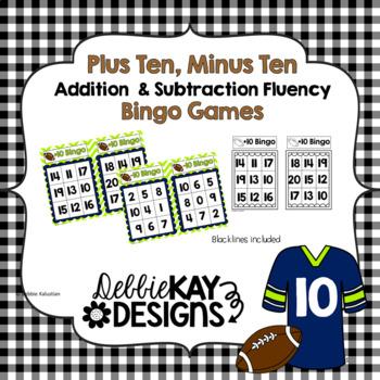 Plus Ten, Minus Ten Bingo:  Addition & Subtraction Fluency