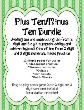Plus Ten Minus Ten Bundle