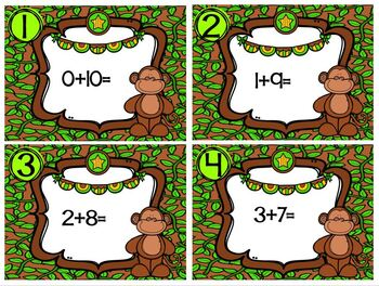 Plus Ten Monkey Math Station