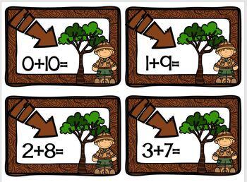 Plus Ten Safari Math Station