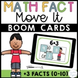 Plus Three Addition Math Facts Boom Cards™ -  Distance Learning