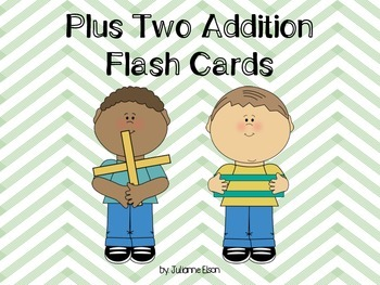 Plus Two Addition Flash Cards