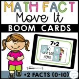 Plus Two Addition Math Facts Boom Cards™ -  Distance Learning