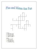 Plus and Minus Are Fun! Crossword Puzzle to Make Arithmetic Fun