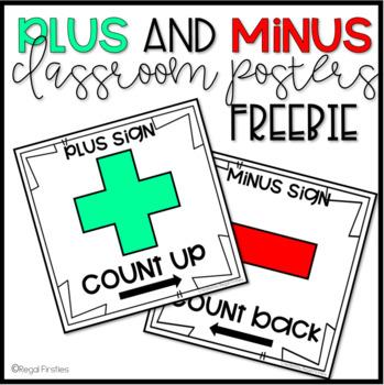 Plus and Minus Posters FREEBIE